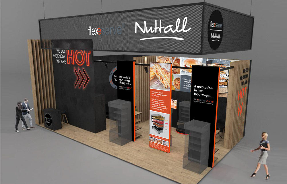 Flexeserve® stand at EuroShop 2020 exhibiting grab and go heated displays