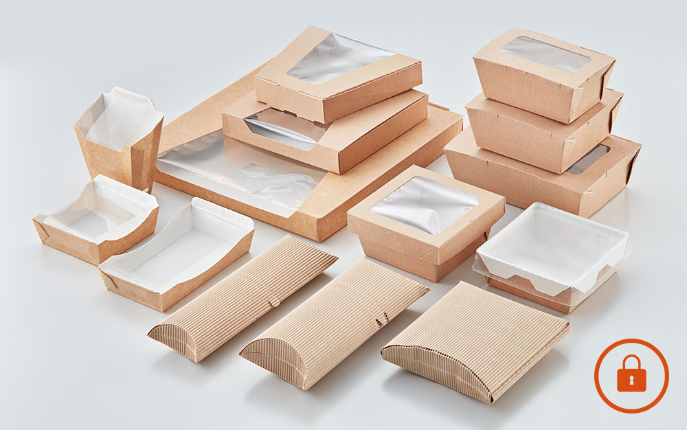 Range of packaging co-developed with packaging partners by Flexeserve® for food security and optimum hot-holding in Flexeserve Zone®
