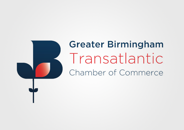 Logo for Greater Birmingham Transatlantic Chamber of Commerce - of which Flexeserve has become a patron
