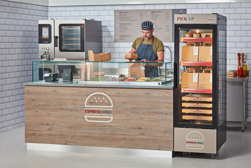 Food delivery orders packaged and hot-held in Flexeserve Hub®