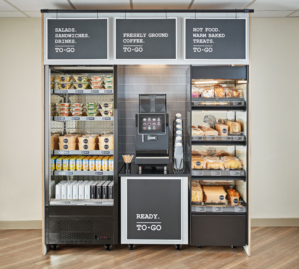 Flexeserve Zone within a self-service food-to-go display for contract catering