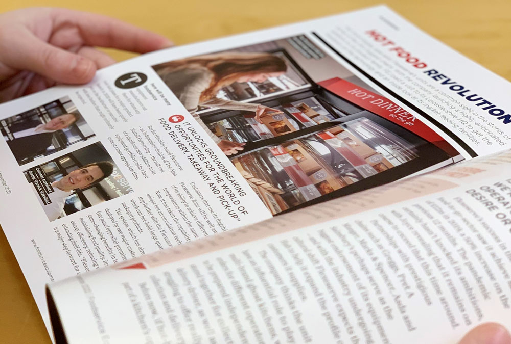 Foodservice Equipment Journal showing Flexeserve hot-holding article