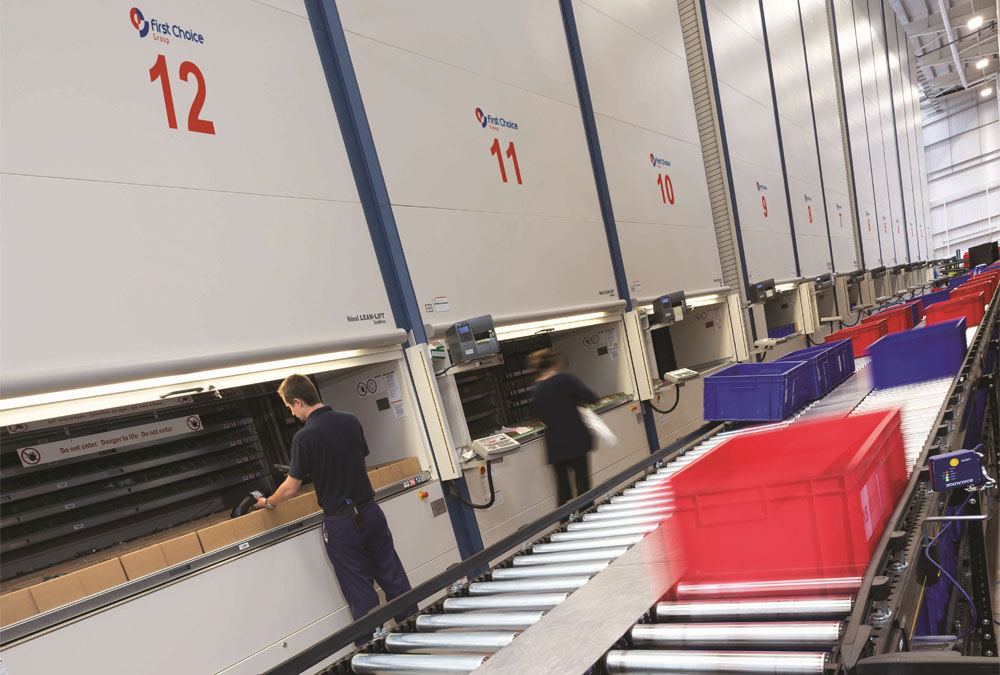 People working in First Choice Group's parts distribution centre