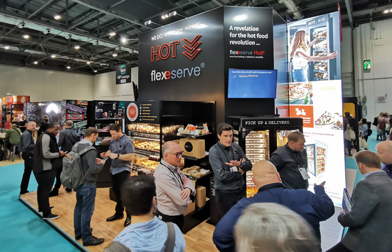 The Flexeserve stand at lunch! 2021